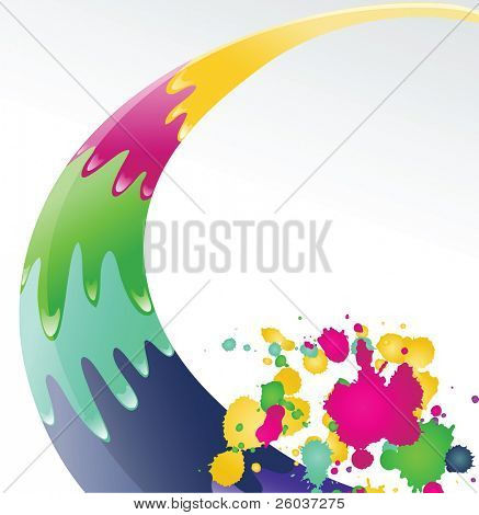 Color ink splashes.   Vector illustration