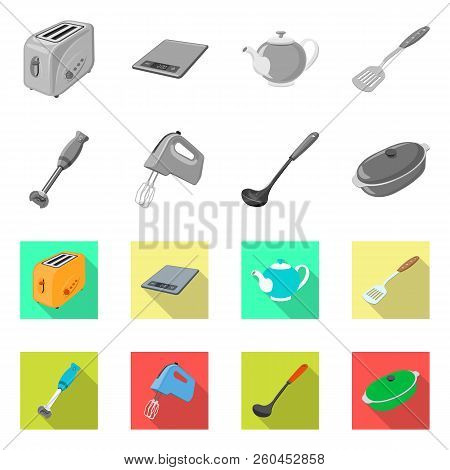 Vector Illustration Of Kitchen And Cook Icon. Set Of Kitchen And Appliance Stock Vector Illustration