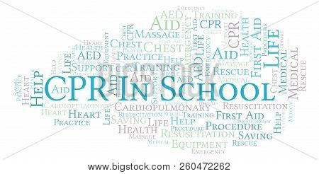 Cpr In School Word Cloud, Made With Text Only