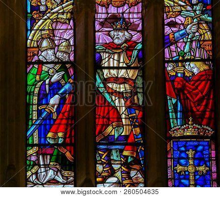 Pelagius Or Pelayo Of Asturias In The Cathedral Of San Salvador In Oviedo, Spain