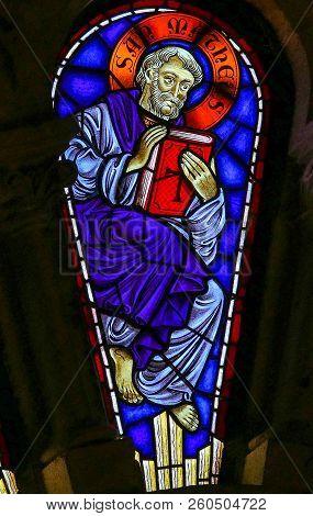 Saint Matthew - Stained Glass In Viana Do Castelo