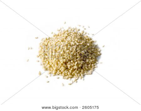 Sesame Seed Pile Isolated