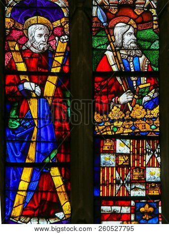 Stained Glass In Oviedo - Saints Andrew And Thomas