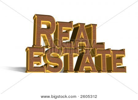 Real Estate Business 3D Logo Brick