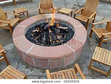 round fir pit