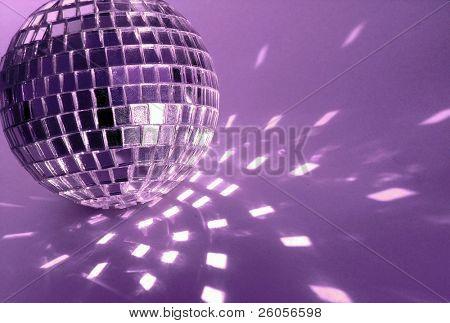 purple  disco ball close-up