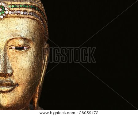 golden buddha head background image