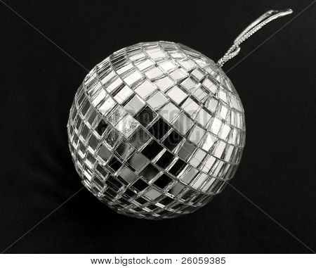 retro disco  ball on black
