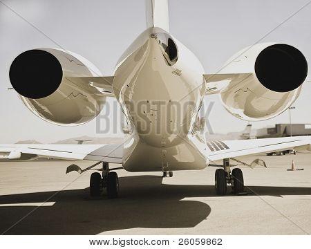 aircraft on runway poster