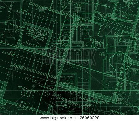 abstract house plans yellow