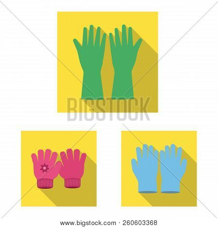 Vector Illustration Of Glove And Winter Sign. Collection Of Glove And Equipment Vector Icon For Stoc