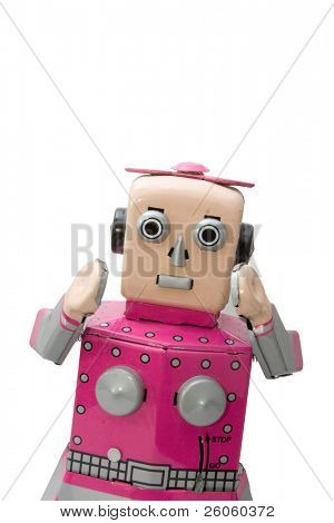 retro  robot  girl toy