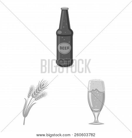 Isolated Object Of Pub And Bar Sign. Collection Of Pub And Interior Stock Vector Illustration.