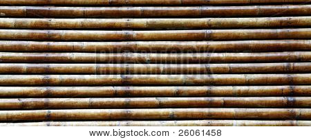 old varnished bamboo background