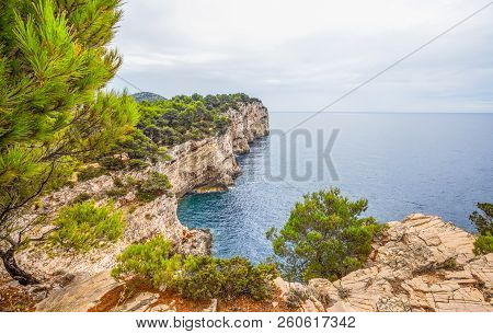 Kornati Islands. Clifs Telascica In National Park Kornati, Adriatic Sea In Croatia, Europe