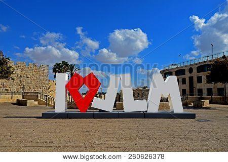 Jerusalem, Israel - 07 September,2018:   Inscription