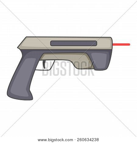 Laser Beam Pistol Icon. Cartoon Illustration Of Laser Beam Pistol Icon For Web