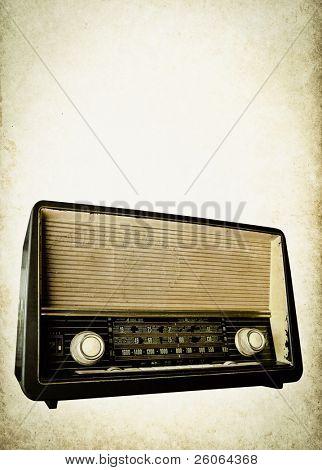 Fondo de radio viejo