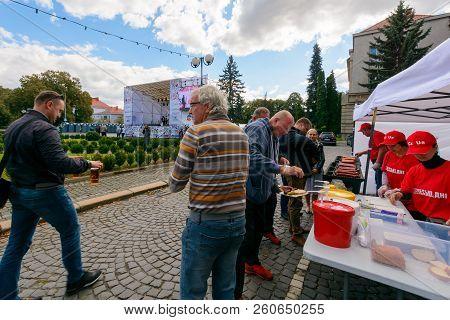 Uzhgorod, Ukraine - Sep 29, 2018: Czech Days In Transcarpathia Festival. 100 Year Of Czechoslovakia