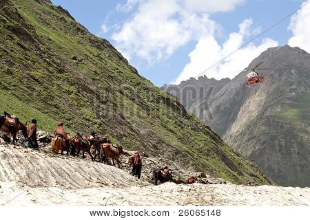 Pilgrimage to the holy Amarnath cave in the Himalayas: by horse and helicopter
