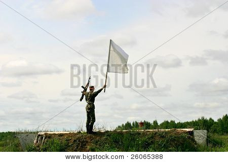 Truce envoy - bearer of a flag of truce