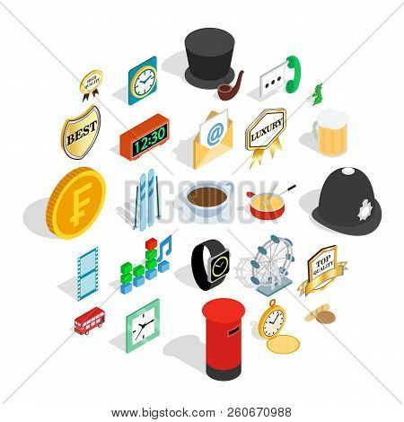 Period Icons Set. Isometric Set Of 25 Period Vector Icons For Web Isolated On White Background