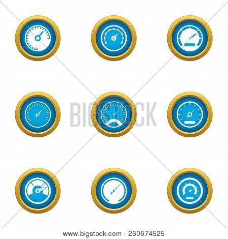 Speed Superiority Icons Set. Flat Set Of 9 Speed Superiority Vector Icons For Web Isolated On White