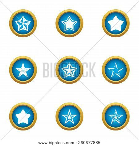 Starlight Icons Set. Flat Set Of 9 Starlight Vector Icons For Web Isolated On White Background