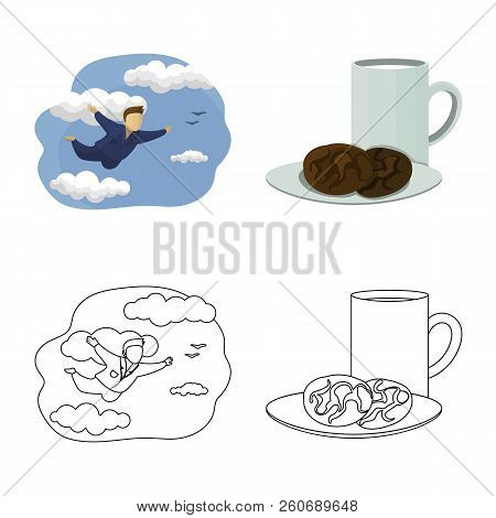 Vector Illustration Of Dreams And Night Symbol. Collection Of Dreams And Bedroom Vector Icon For Sto