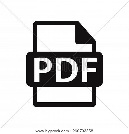 Pdf File Icon Isolated On White Background. Pdf File Icon In Trendy Design Style. Pdf File Vector Ic