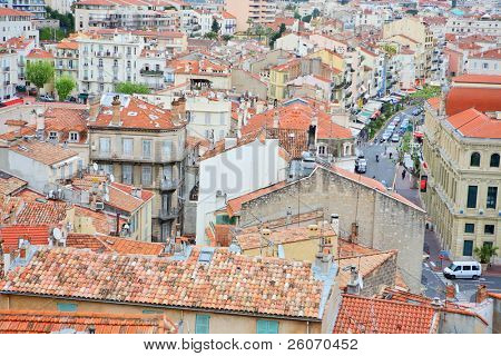 view of cannes from the old town le suquet