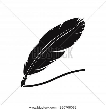 Feather Pen Icon Isolated On White Background. Feather Pen Icon In Trendy Design Style. Feather Pen