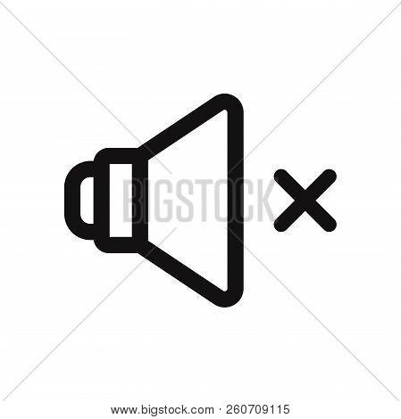 Speaker Mute Icon Isolated On White Background. Speaker Mute Icon In Trendy Design Style. Speaker Mu