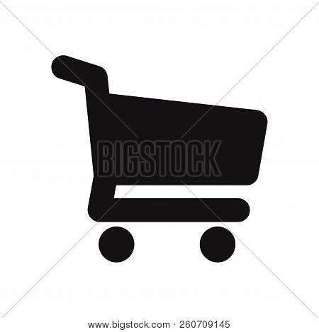 Shopping Cart Icon Isolated On White Background. Shopping Cart Icon In Trendy Design Style. Shopping