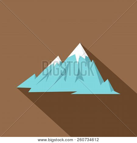 Rocky Mountains Icon. Flat Illustration Of Rocky Mountains Icon For Web Isolated On Coffee Backgroun