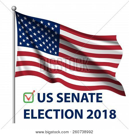 2018 United States Elections. Us Midterm Elections 2018: The Race For Congress. Symbol Of Republican