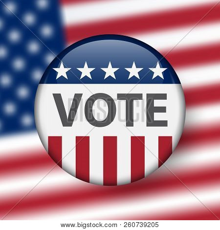 United States Elections. Us Midterm Elections 2018: The Race For Congress. Symbol Of Republican Gove