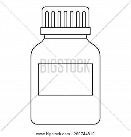 Medicine Bottle Icon. Outline Illustration Of Medicine Bottle Icon For Web