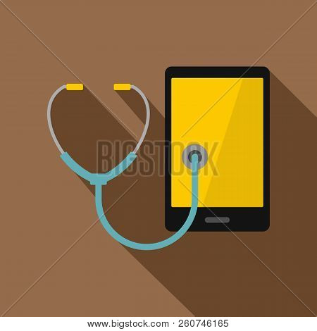 Phone Diagnosis Icon. Flat Illustration Of Phone Diagnosis Icon For Web