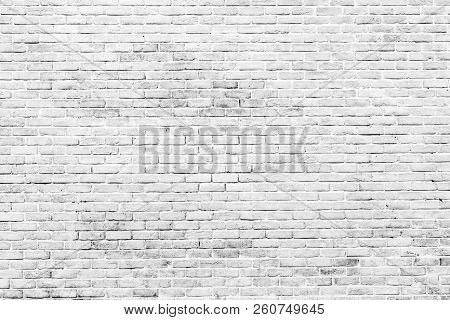 White And Grey Brick Wall Texture Background With Space For Text. White Bricks Wallpaper. Home Inter