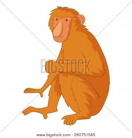 Proboscis Monkey Icon. Cartoon Illustration Of Proboscis Monkey Icon For Web