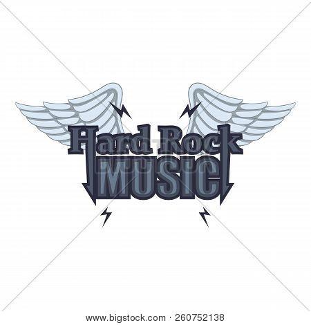 Hard Rock Music Icon. Cartoon Illustration Of Hard Rock Music Icon For Web