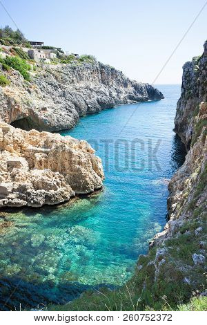 Apulia, Leuca, Italy, Grotto Of Ciolo - From Grotto Ciolo To The Adriatic Sea