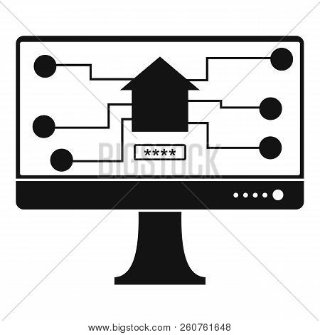 Monitor Chip Icon. Simple Illustration Of Monitor Chip Icon For Web