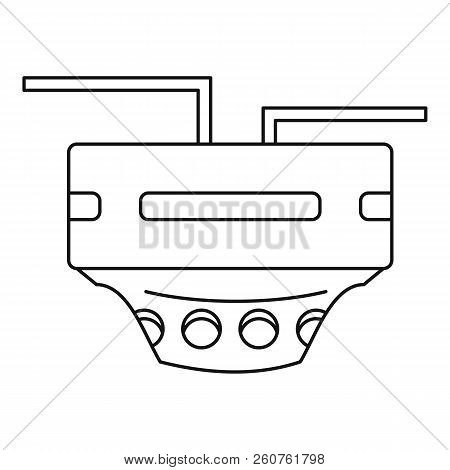 Monitor Socket Icon. Outline Illustration Of Monitor Socket Icon For Web