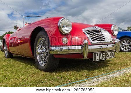 Tain, Scotland - June 17 2018: Classic Mga Roadster Rover At A Vintage Car Rally