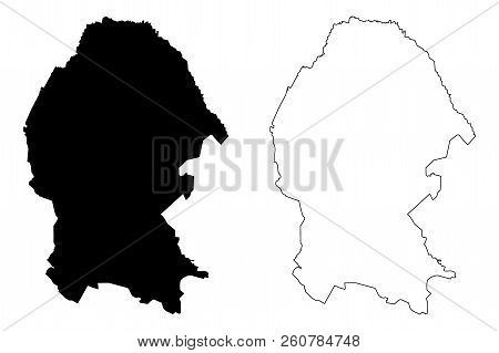 Coahuila (united Mexican States, Mexico, Federal Republic) Map Vector Illustration, Scribble Sketch