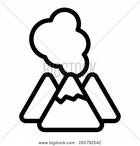 Volcano images illustrations vectors free bigstock volcano line icon lava vector illustration isolated on white crater outline style design maxwellsz