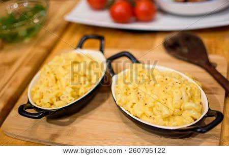 Cozy Comfort Food Plates Of Mac And Cheese, Macaroni And Cheese American Classic Cuisine And Home Co