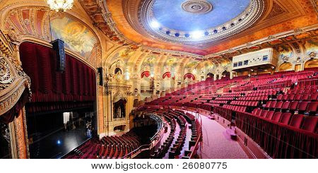 CHICAGO, IL - OCT 6: Chicago Theatre interior on October 6, 2011 in Chicago, Illinois. Built in 1921, Chicago Theatre was the flagship for the B&K group and was listed as a Chicago Landmark in 1983.